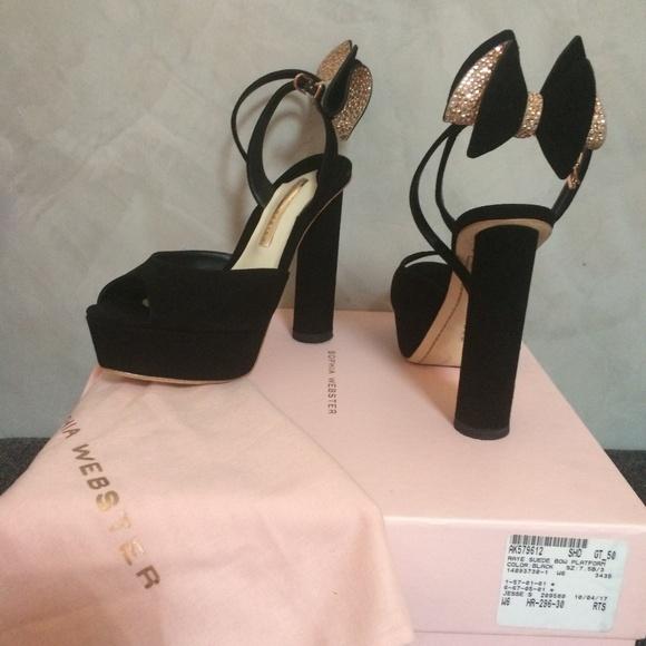 0641f105c30 Sophia Webster Suede Raye Platform Heels